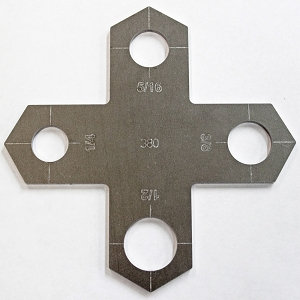 Plasma Stencil - Holey Cross - Bolt Hole Cutter Guide