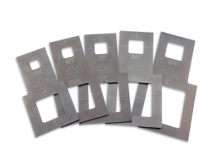 Plasma Stencil - Square Cutter Guide Kit - 5 pc.
