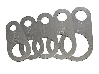 Plasma Stencil - Circle Cutter Guide Kit - 5 pc.