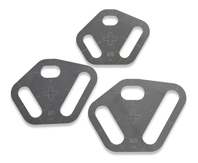 Plasma Stencil - Tri Slot - Slot Cutter Guide Kit - 3 pc.